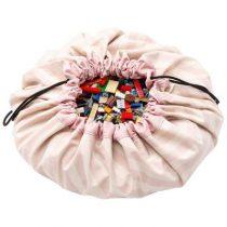 Play & Go opbergzak en speelkleed roze strepen