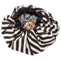 Play & Go opbergzak en speelkleed zwarte strepen