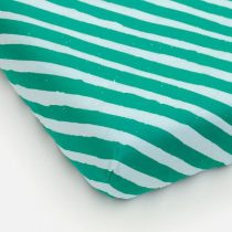 Studio Ditte hoeslaken strepen groen lichtblauw 90x200cm