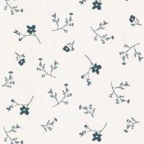 Bibelotte wallpaper behang bloemenzee groot blauw