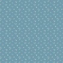 Bibelotte wallpaper behang bloemenzee mini blauw