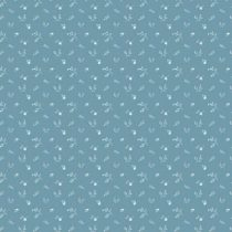 Bibelotte wallpaper behang bloemenzee mini blauw