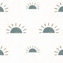 Bibelotte wallpaper behang ochtendgloren denimblauw