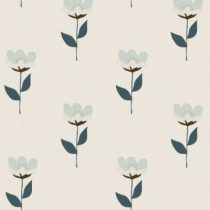 Bibelotte wallpaper behang retro bloem blauw