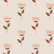 Bibelotte wallpaper behang retro bloem roze