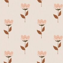 Bibelotte wallpaper behang retro bloem roze