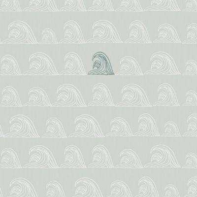 Bibelotte wallpaper behang zeebries blauw
