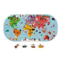Janod badspeelgoed wereldkaart