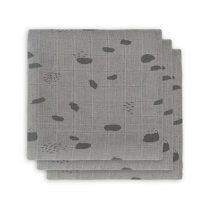 Jollein hydrofiele doeken Spot storm grey 3 pack