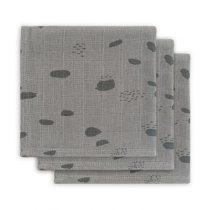 Jollein hydrofiele monddoekjes Spot storm grey 3 pack