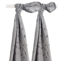 Jollein swaddledoeken large Spot storm grey 2 pack