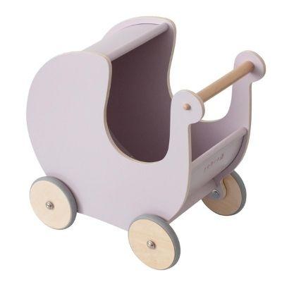 Sebra houten poppenwagen morning cloud pink