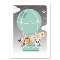 Studio Circus poster A4 Luchtballon