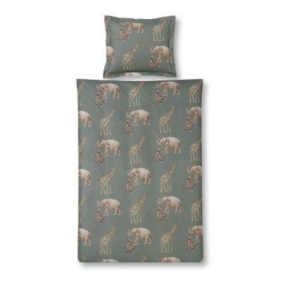 Vandyck dekbedovertrek elephant olive eenpersoonsbed