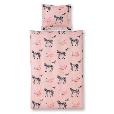 Vandyck dekbedovertrek zebra light pink eenpersoonsbed