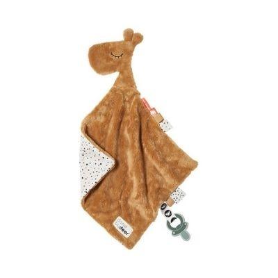 Done by Deer knuffeldoek comfort blanket giraf Raffi mustard
