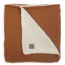 Jollein deken teddy ledikant Bliss knit caramel 100x150 cm