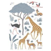 Lilipinso Tanzania muurstickers Giraffe gazelles en flamingos