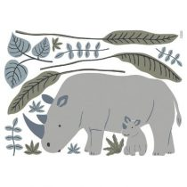 Lilipinso Tanzania muursticker XL neushoorn