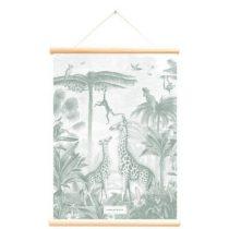 Little and Pure poster praatplaat Pimpelmees Giraf en aapjes