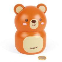 Janod houten spaarpot beer