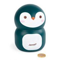 Janod houten spaarpot pinguin