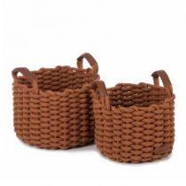 Kidsdepot opbergmand Korbo medium koper set van 2