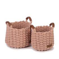 Kidsdepot opbergmand Korbo medium roze set van 2
