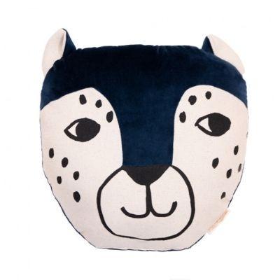 Nobodinoz Leopard kussen night blue