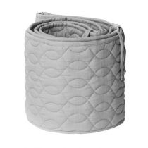 Sebra bedbumper quilted elephant grey