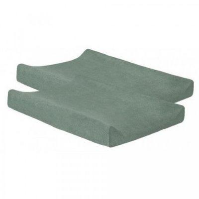 Jollein aankleedkussenhoes badstof ash green 2 stuks