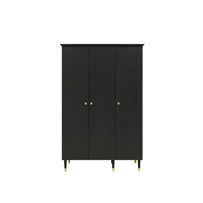Bopita 3-deurskast Cloë mat zwart 1