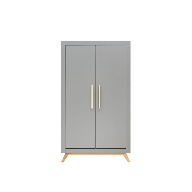 Bopita 2-deurskast Fenna grijs/naturel