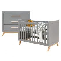 Bopita 2-delige babykamer Fenna grijs/naturel