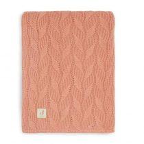 Jollein wiegdeken spring knit rosewood/coral fleece