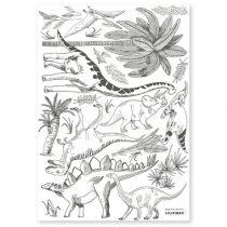 Lilipinso sticker Dinosaurus & Plants