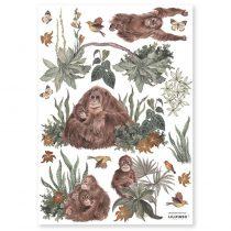 Lilipinso muurstickers Orang-oetan