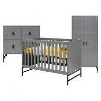Bopita 3-delige babykamer Milo steel grey