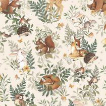 Lilipinso behang Forest friends beige