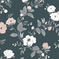 Lilipinso behang Symphony of roses dark blue