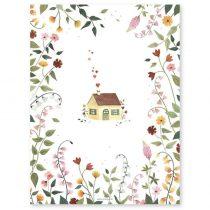 Lilipinso poster Huis en bloemen