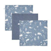 Little Dutch monddoekjes Ocean Blue/Pure Olive set van 3