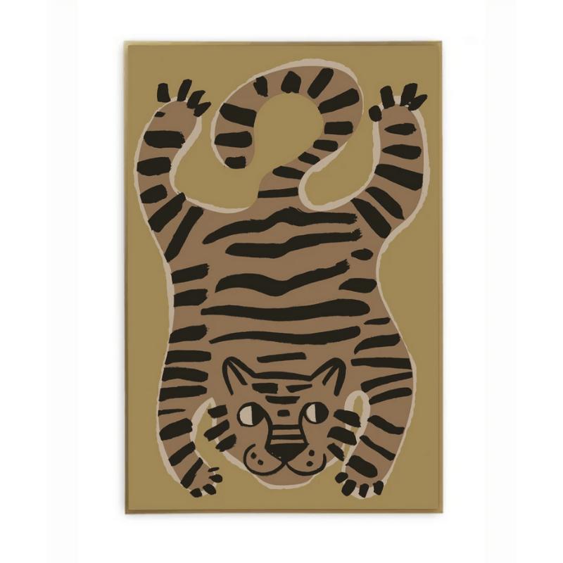 Studio Loco poster tijger 50x70cm