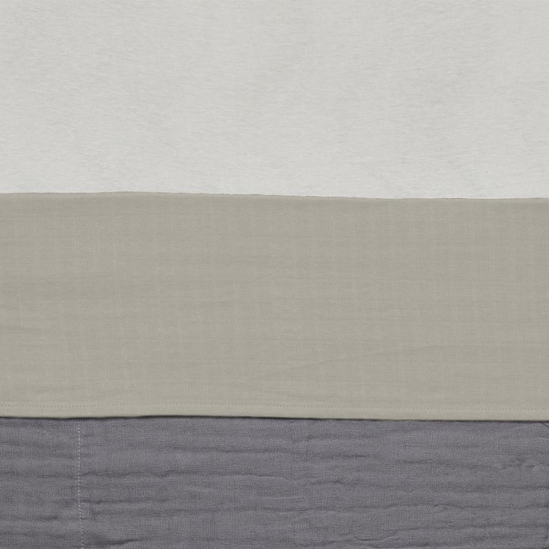 Jollein laken wieg wrinkled cotton Nougat