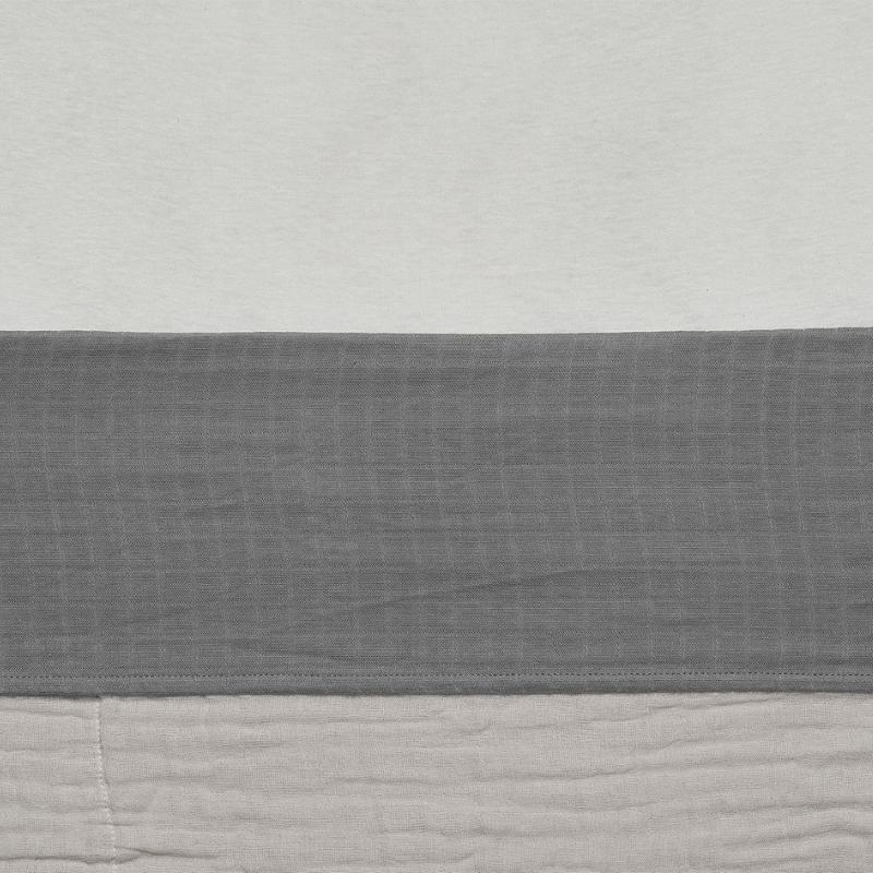 Jollein laken wieg wrinkled cotton Storm Grey